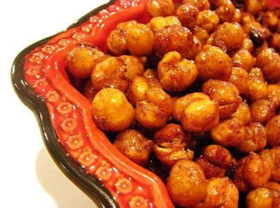Honey Cinnamon Roasted Chickpeas | Recipe variety | Pinterest