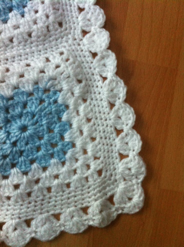 Crocheting Edges On Baby Blankets : Crochet baby blanket, close up of edging My talented mother Pinte ...