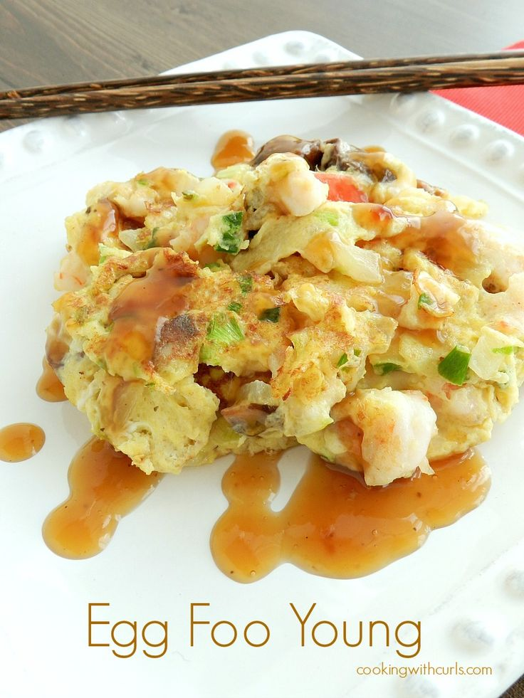 Shrimp Egg Foo Young. Simple and easy. Made as a side for sesame ...