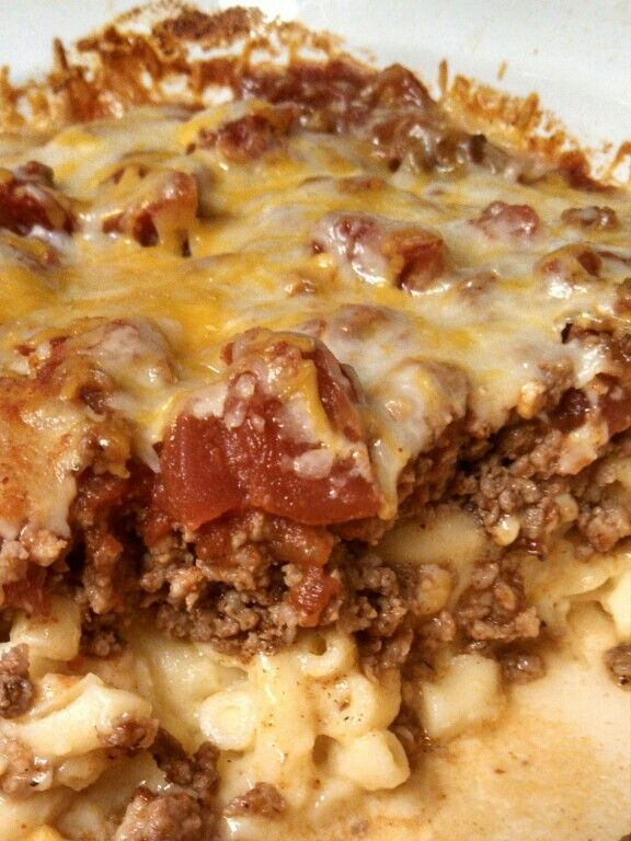 Leftover Mac & cheese makeover! Add ground beef cooked with taco ...