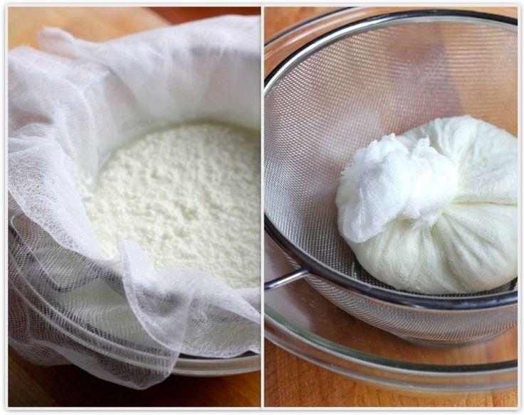 homemade ricotta cheese | Say Cheese | Pinterest