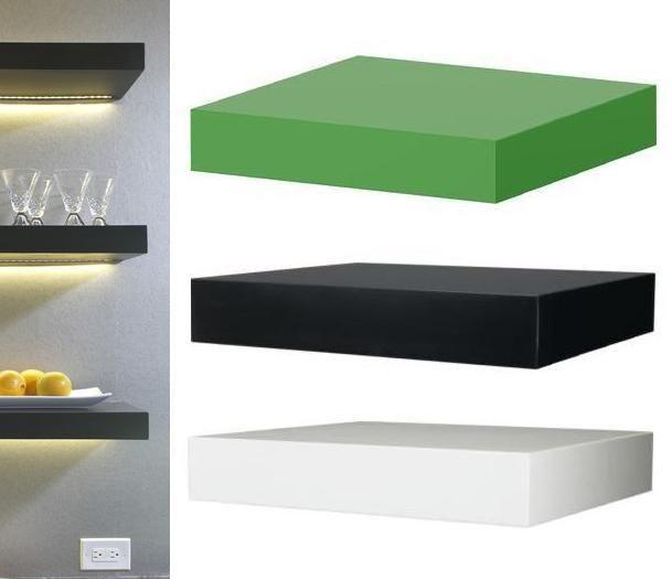 ikea lack floating wall shelf 12 concealed mounting white black or g. Black Bedroom Furniture Sets. Home Design Ideas
