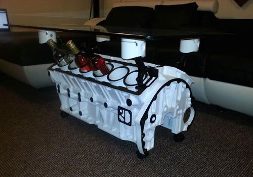 Jaguar v12 coffee table funny bizarre amazing pictures for Bizarre coffee table