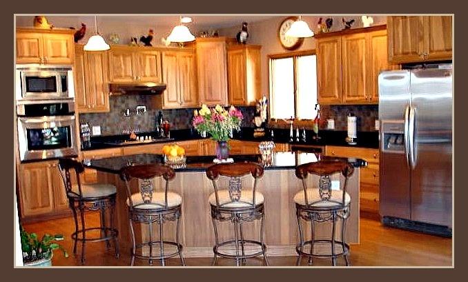 Rustic hickory cabinets, honey finish  Kitchen  Pinterest
