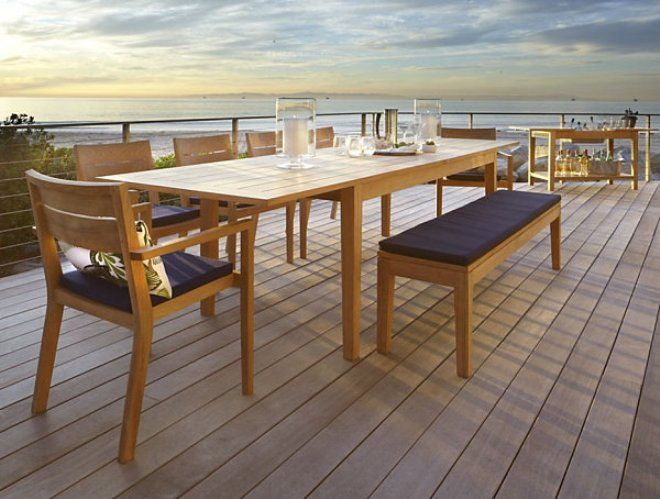 Expandable Outdoor Dining Table Court Pinterest