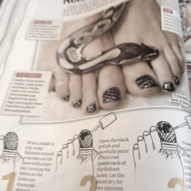 Python nails! LOVE