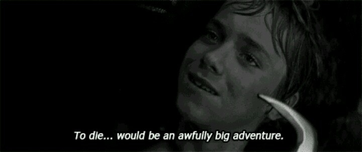 To die would be an awfully great adventure peter pan for To die would be an awfully big adventure tattoo