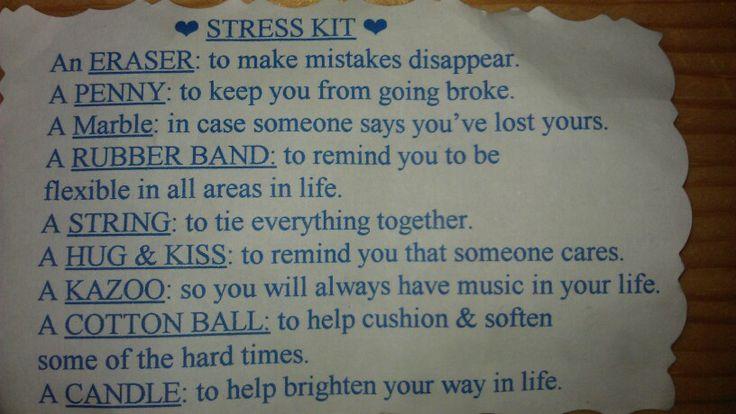 free printable anti stress kit sign | just b.CAUSE