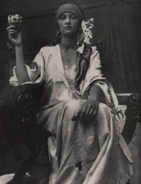 Vintage Portrait of a Gypsy Woman