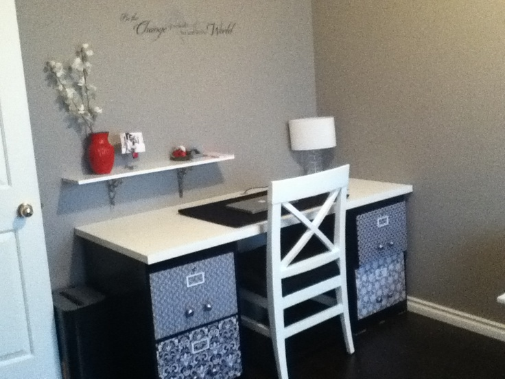 filing cabinet desk diy projects pinterest