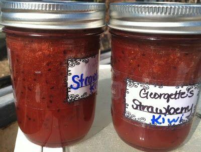 Strawberry-Kiwi Jam | Food Storage- Canning | Pinterest