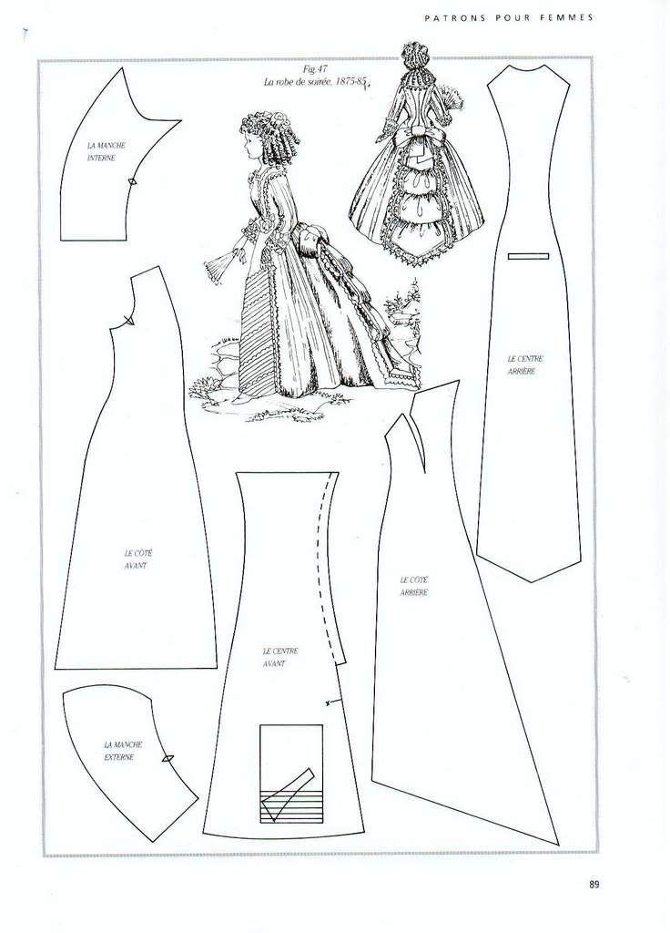 Как сшить платье 18 века выкройки 75