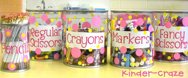 super-cute pails for students supplies