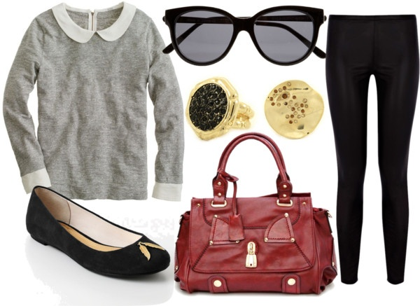 """""""Leather Leggings 2"""" by fashboulevard on Polyvore"""