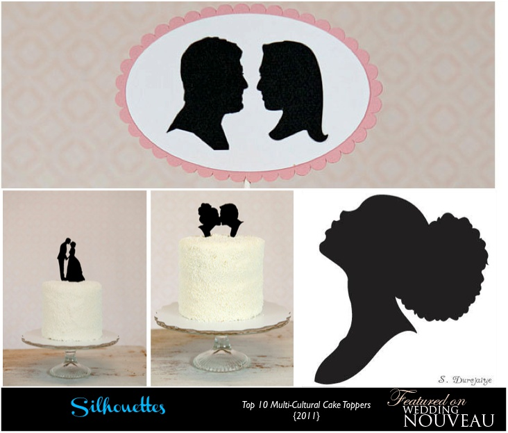 Wedding Cake Topper Silhouette