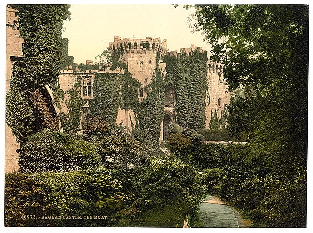 The Moat Raglan Castle England Happily Ever After