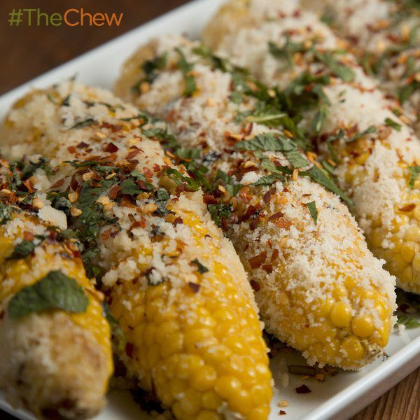 Mario Batali's Grilled Corn Italian Style! #TheChew