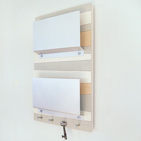 Coast Modern Nautical Wall Mount Mail Letter Holder