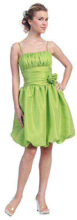 Short lime green prom dresses beach wedding venue for Short green wedding dresses
