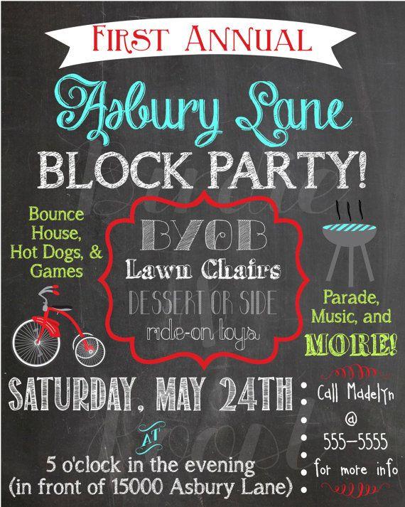 Best 25+ Block party invites ideas on Pinterest Neighborhood - free party invitation template