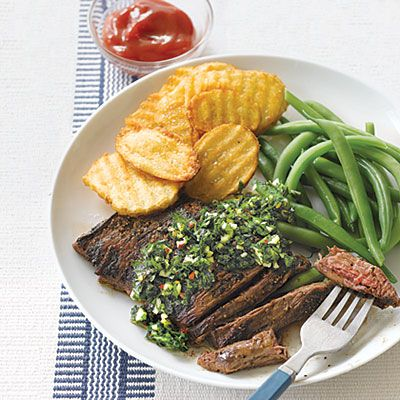 Skirt Steak with Chimichurri $2.39 a serving or in my case 1/2 that a ...