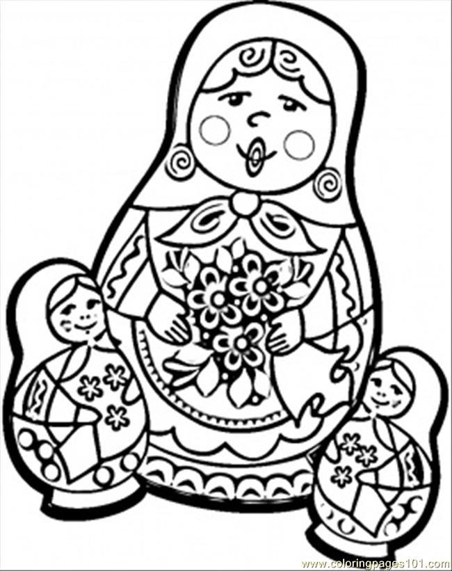 matroyshka dolls coloring pages - photo#19