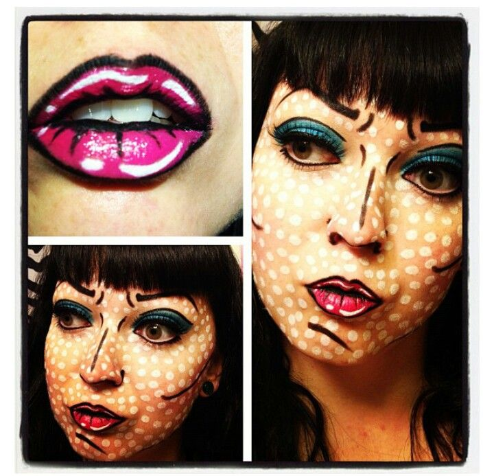 comic book makeup : Halloween : Pinterest