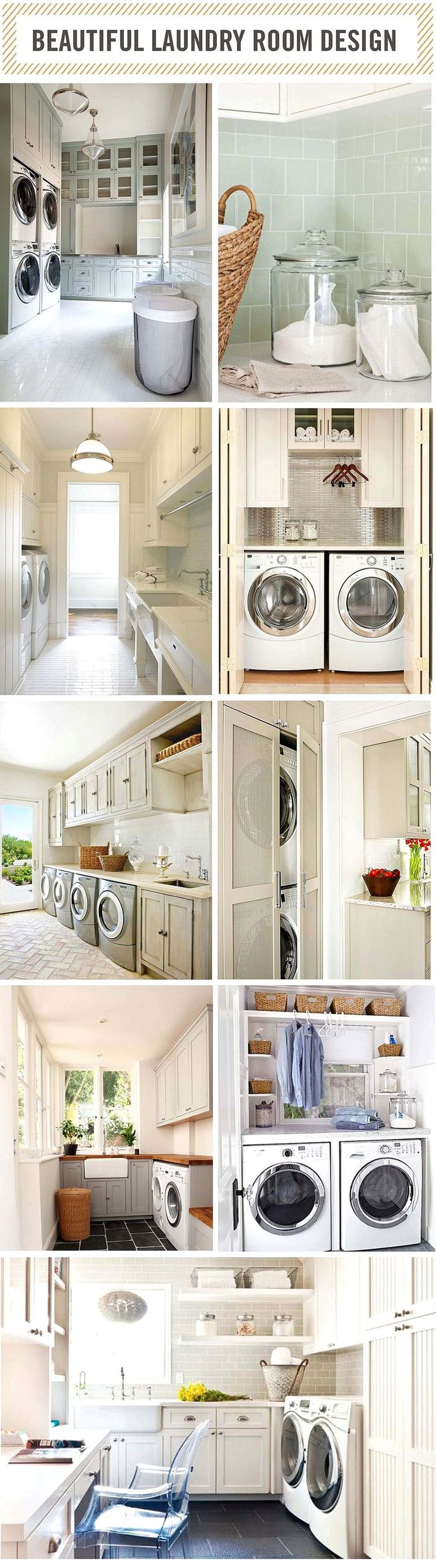 The Most Beautiful Laundry Rooms