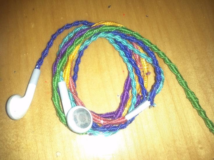 Embroidery thread headphones makaroka