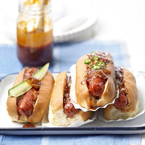 Hot Dogs with Dr Pepper Barbecue Sauce | food :))) | Pinterest