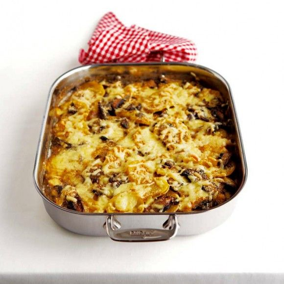 Portobello Mushroom and Potato Gratin