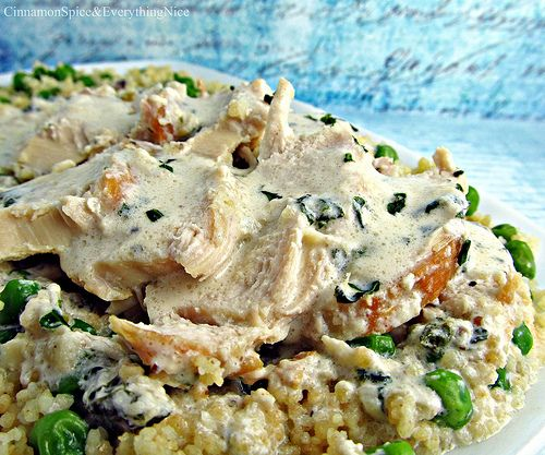 Tarragon Chicken And Sweet Pea Couscous Recipe — Dishmaps