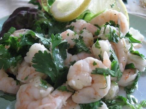 lemon & cilantro shrimp salad | yummy creations to try | Pinterest