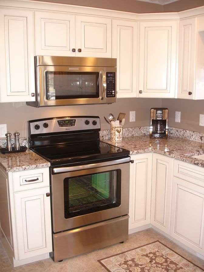 White Kitchen Cabinets Taupe Walls Home Decor Ideas Pinterest