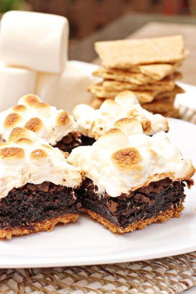 mores Brownies by Cookie Monster Cooking http://cookiemonstercooking ...