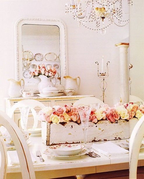 romantic decorating ideas | All things Cottage & Country | Pinterest