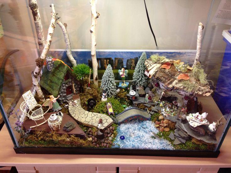 My aquarium fairy garden 2 0 fairy gardens pinterest for Fish aquarium garden