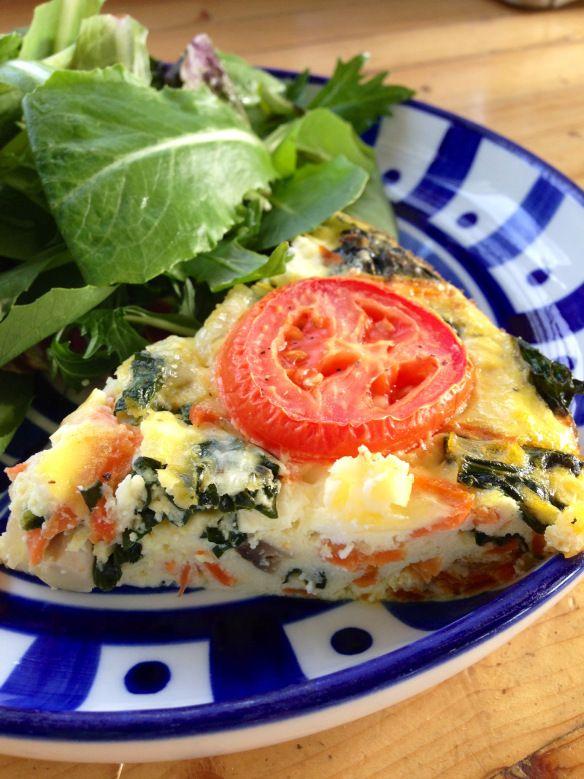 crustless veggie quiche ~gluten free, vegetarian, grain free~ Made ...