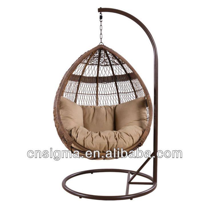 Basket egg pod hanging chair canopy garden swing chair