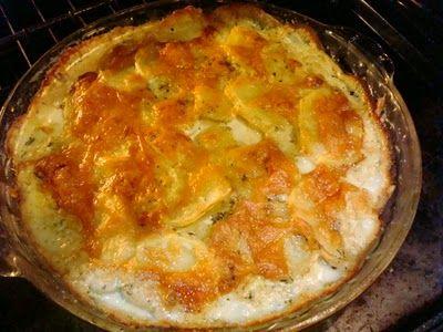 Smoky Mountain Café: Potatoes Au Gratin...with Gruyere'