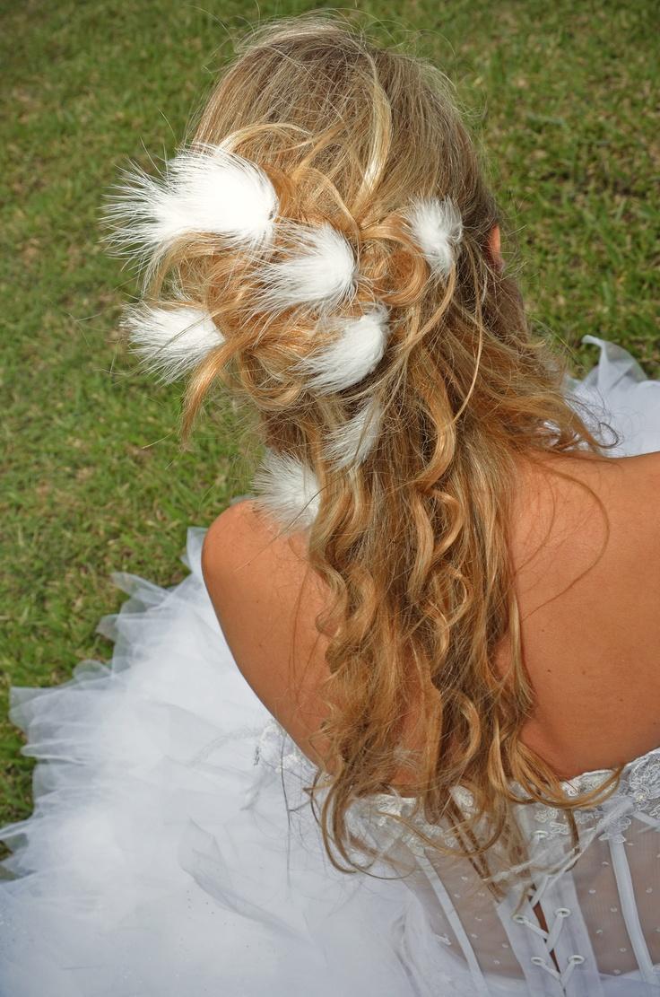 plume cheveux