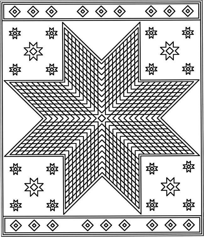 quilt coloring pages - photo#25