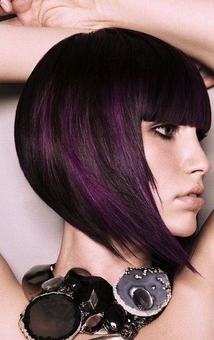Fun Hair Color: Black hair with a subtle hint of purple! Read: 10 Top ...