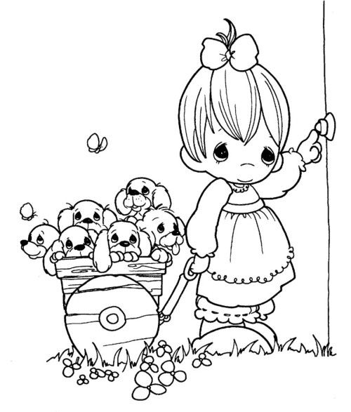 taking care flower coloring pages - photo#50