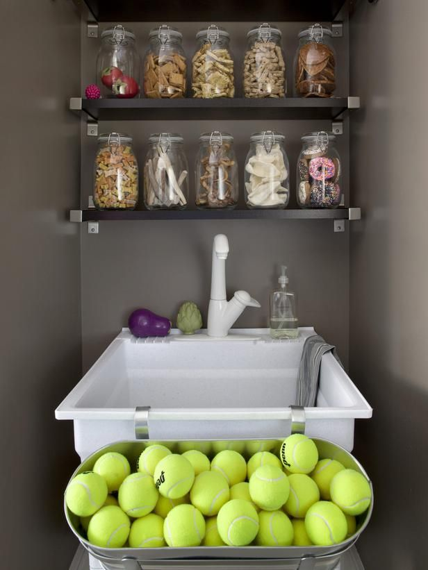 That's one seriously organized doggie play area #hgtvmagazine http://www.hgtv.com/specialty-rooms/inside-verns-dog-friendly-home/pictures/page-3.html?soc=pinterest