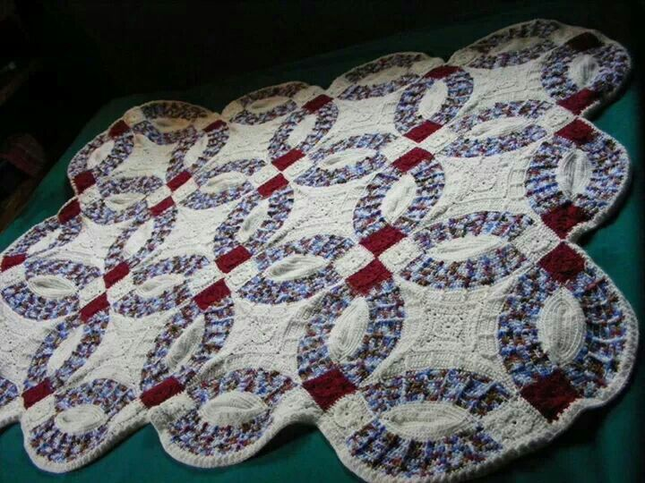 Wedding Ring Afghan Crochet Pinterest