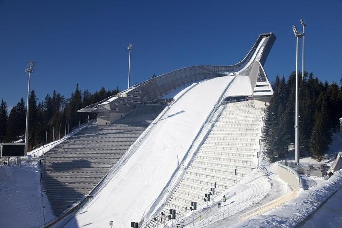 Ski jump penthouse balcony