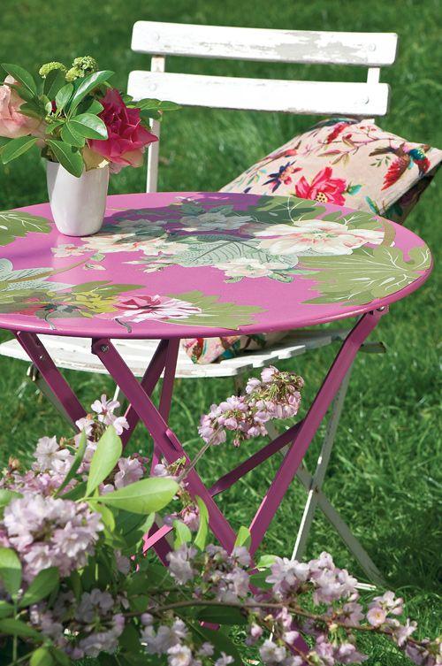 www.vmvj.fr - Décorer une table de jardin soi-même - Création ...