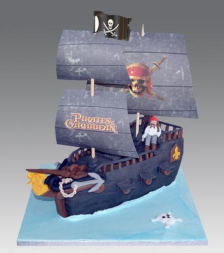 Pin Black Pearl Pirate Ship Birthday Cake Flickr Photo Sharing Cake on ...
