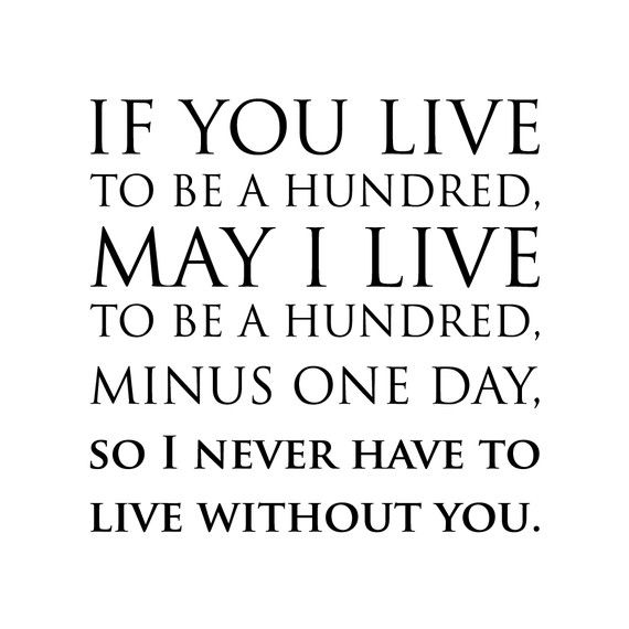 If You Live To Be A Hundred Wall Decal